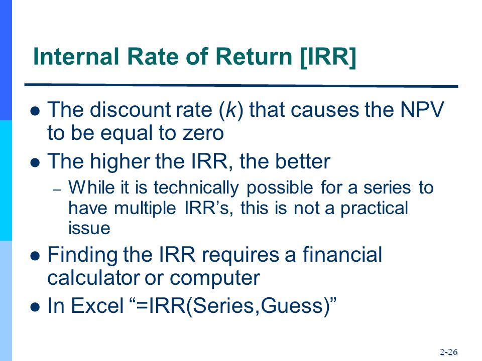 Internal Rate of Return [IRR]